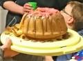 Und unser Vulkankuchen.
