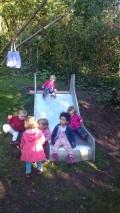 Unsere Hangrutsche für die Kleinen