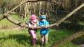 ...und an der Baumschaukel